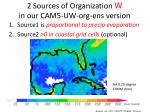 2 sources of organization w in our cam5 uw org ens version