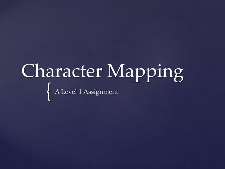 character mapping n.