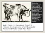 bull plate i december 5 1945 eleven developments of a lithograph museum of modern art new york