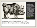 bull plate iii december 18 1945 eleven developments of a lithograph