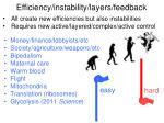 efficiency instability layers feedback2