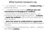 what some reviewers say