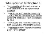 why update an existing nar1