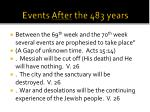 events after the 483 years