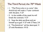 the third period the 70 th week