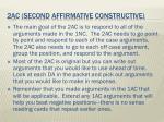 2ac second affirmative constructive