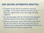 2ar second affirmative rebuttal