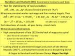 burdiken and burkett bb econometric concerns and tests