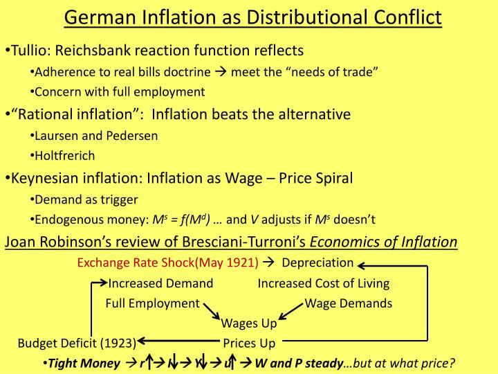 german inflation as distributional conflict n.