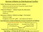 german inflation as distributional conflict