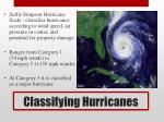 classifying hurricanes