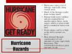 hurricane hazards