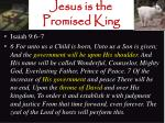 jesus is the promised king1