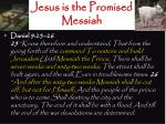 jesus is the promised messiah