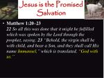 jesus is the promised salvation1