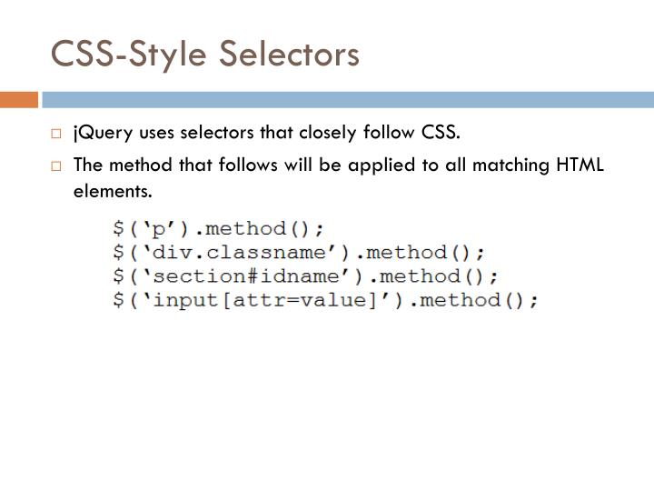 CSS-Style Selectors