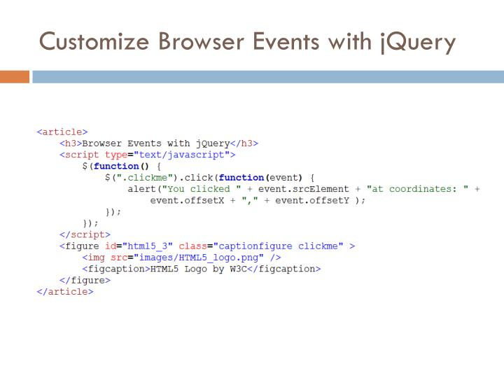 Customize Browser Events with jQuery