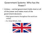 government systems who has the power
