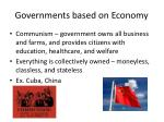 governments based on economy2
