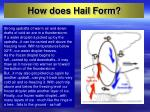 how does hail form