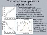 two emission components in dimming regions