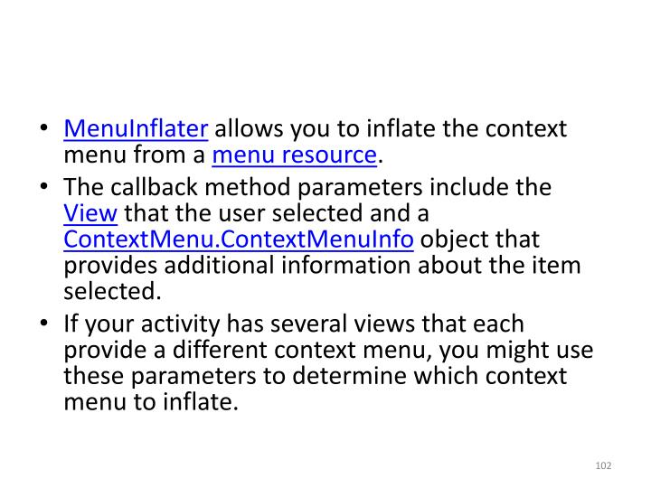 MenuInflater