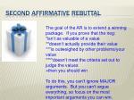 second affirmative rebuttal