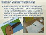 when do you write speeches5
