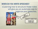 when do you write speeches6