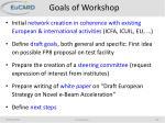 goals of workshop