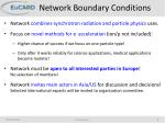 network boundary conditions