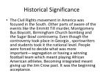 historical significance