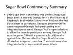 sugar bowl controversy summary