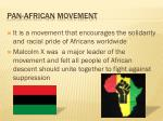 pan african movement