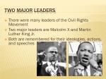 two major leaders