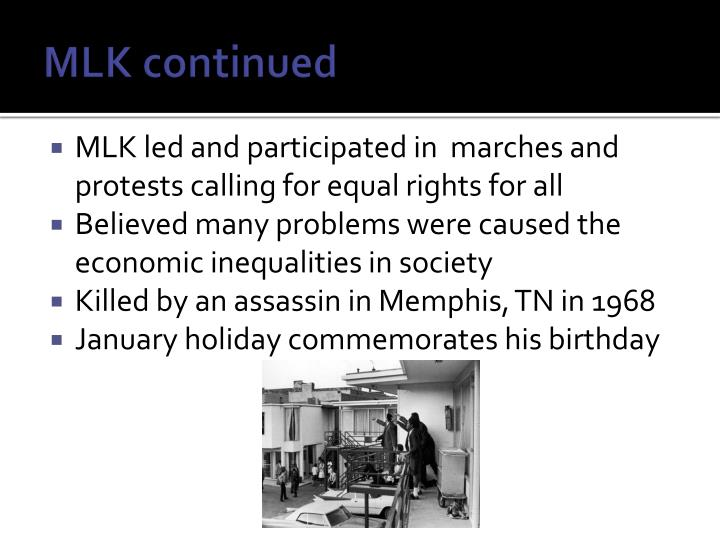 MLK continued