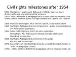 civil rights milestones after 1954