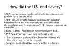 how did the u s end slavery