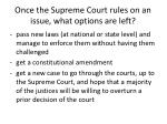 once the supreme court rules on an issue what options are left