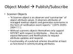 object model publish subscribe
