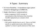 x types summary