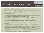 no child left behind 2002