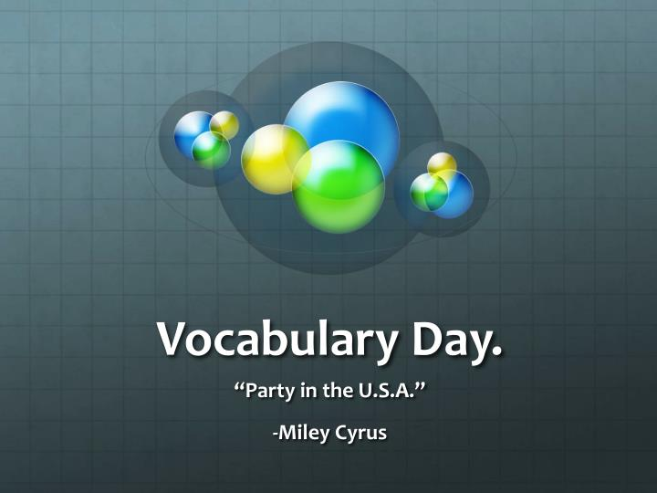 vocabulary day n.