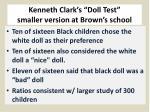 kenneth clark s doll test smaller version at brown s school