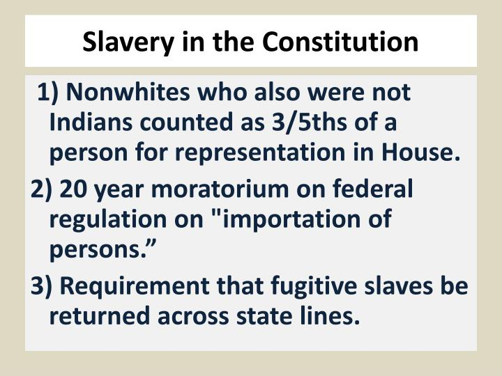 slavery in the constitution n.