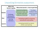 unpacking formative a ssessment