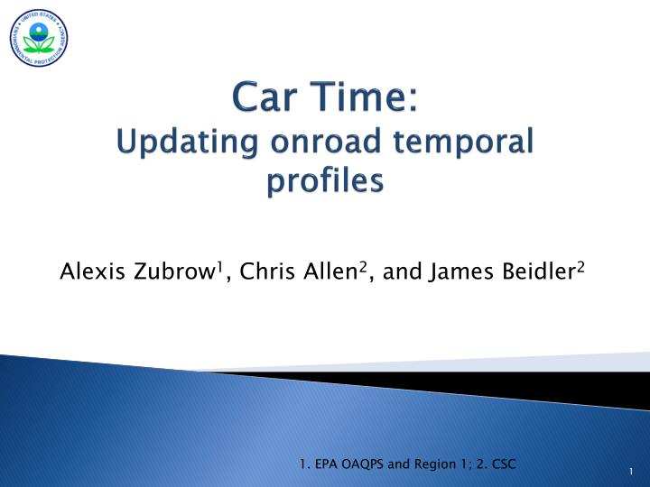 car time updating onroad temporal profiles n.