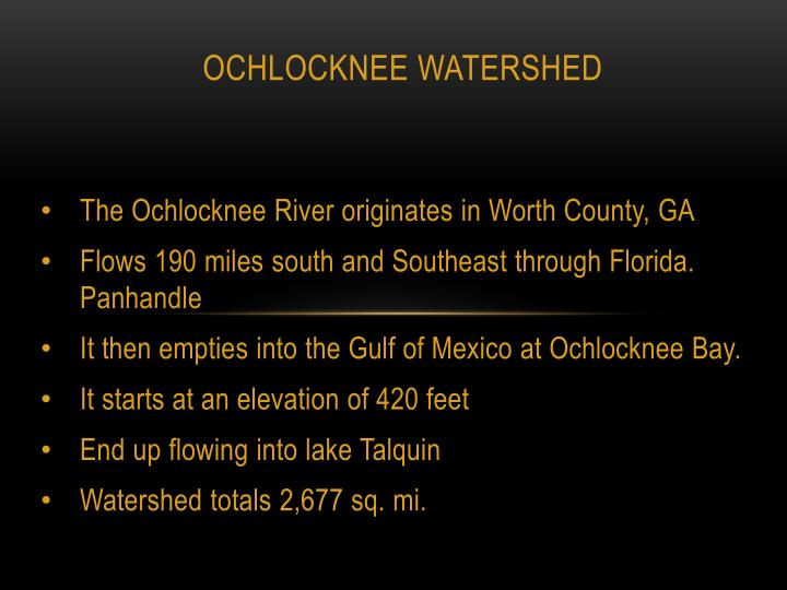 ochlocknee watershed n.