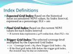 index definitions