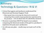 summary technology questions ri vi